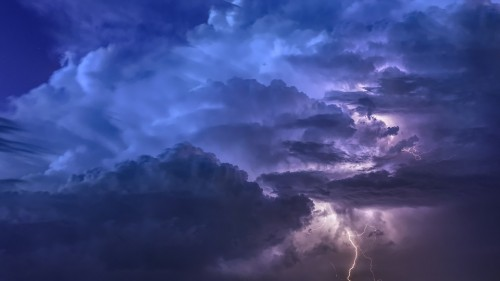 Thunderstorm Flashes Night Weather Sky Forward