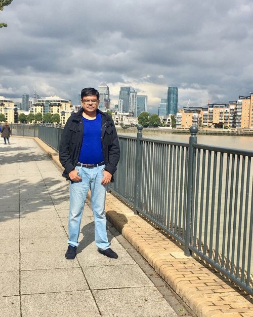 Mohnesh Kohli CEO and Founder of Megrisoft at near River Thames , Greenwich London
