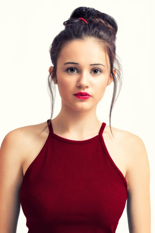 A Girl In Red Dress