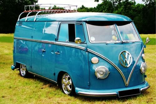 Blue Volkswagen Panel car