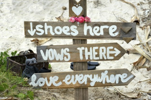 Wedding Sign about shoes,vowes,love,kiss