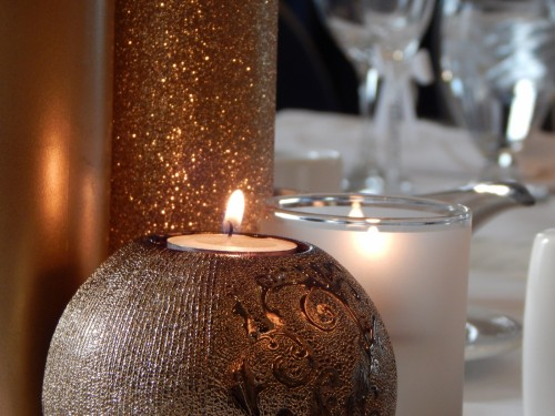 Candle Decoration Glitter