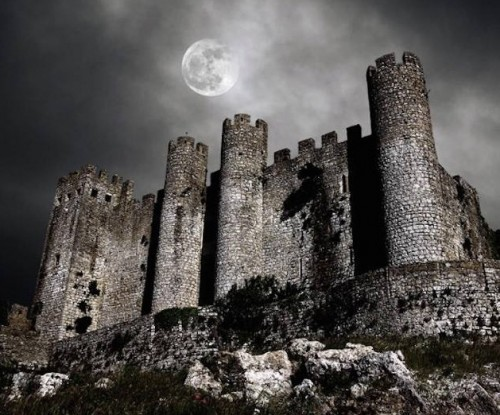 Castle in Full Moon Light
