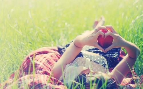 Girl Hands Heart Love
