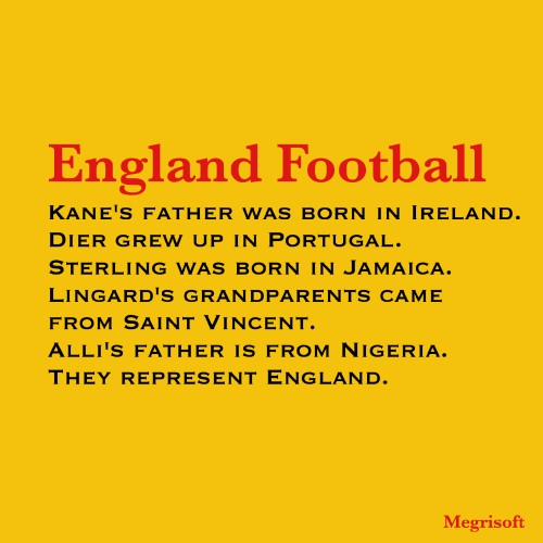 England Football Text Quote in Image
