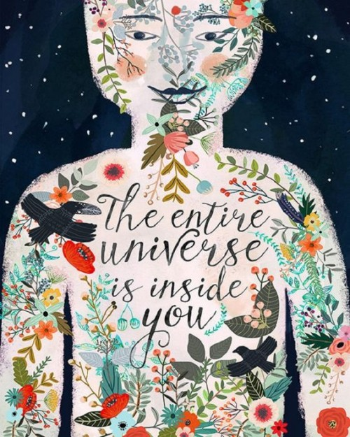 The whole universe exist inside ourselves