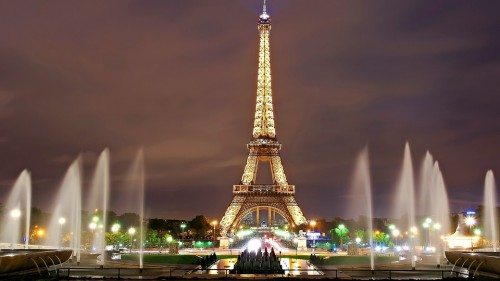 The Eiffel Tower is a wrought iron lattice tower on the Champ de Mars in Paris, France. It is named after the engineer Gustave Eiffel, whose company designed and built the towe