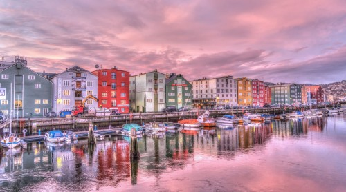 Colourful buidings and boats