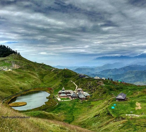 Prashar Lake lies 49km north of Mandi, Himachal Pradesh, India, with a three storied pagoda-like temple dedicated to the sage Prashar.