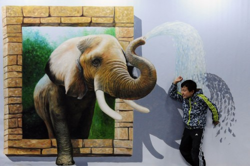 3d Elephant Painting