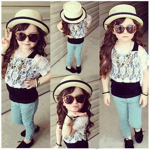 Stylish girl with attitude.