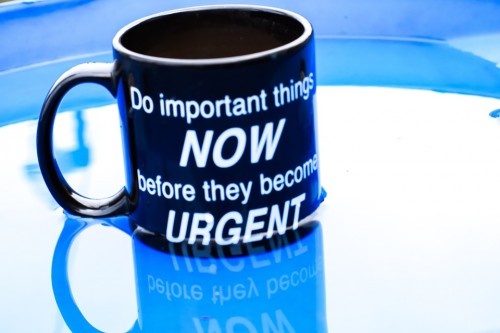 Quote written on the mug