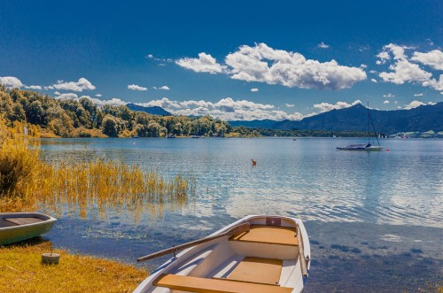 Chiemsee Bavaria Autumn Landscape Lake Water