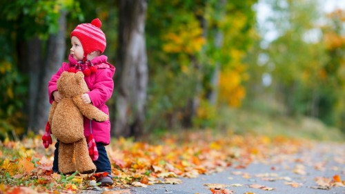 Childhood  is awesome time we don't know about anything even a teddy bear will become best friend.