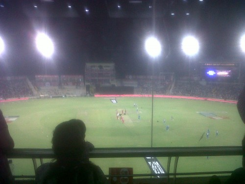Mohali stadium 20-20 cricket match