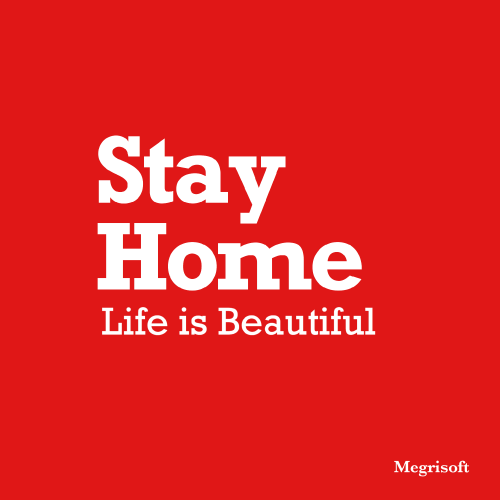 Stay Home Life Is Beautiful. This Quote is berst in Covid19 or coronavirus