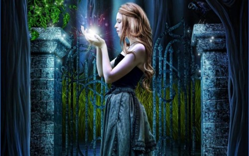 Girl Magic Fantasy Wallpaper