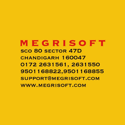 Megri Soft Limited   3.7 20 Google reviews Information and technology services in Chandigarh Address: S.C.O 80, Sector 47, Chandigarh, 160047 Hours:  Closed ⋅ Opens 9:30AM Tue Phone: 0172 263 1561