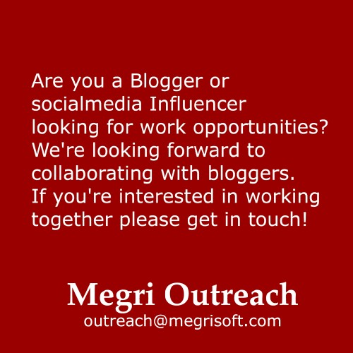 Megri Outreach inviting bloggers and influence rto join for branding and outreach work