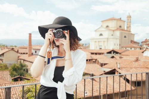 Woman Taking Pictures, photography, travel,