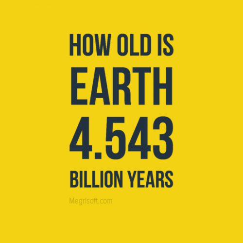 The age of the Earth is 4.54 ± 0.05 billion years (4.54 × 109 years ± 1%). This dating is based on evidence from radiometric age dating of meteorite material and is consistent with the radiometric ages of the oldest-known terrestrial and lunar samples. The oldest meteorites are about 4.8 billion years old so that is probably the upper limit for the Earth too. Return to the Ask the Space Scientist main page. NASA IMAGE/POETRY Education and Public Outreach program.