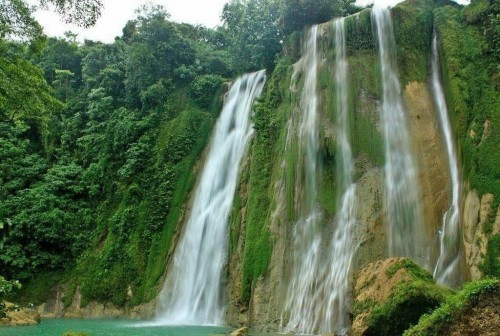 Jaska waterfall in Indonesia