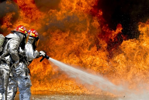 High Flames , water , Fire Fighter
